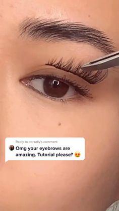 Asian Eye Makeup, Makeup Eye Looks, Eyebrow Makeup, Smoky Eye Makeup Tutorial, Eyebrow Tutorial, Eyelashes, Eyebrows, Beginners Eye Makeup, Hair And Makeup Tips