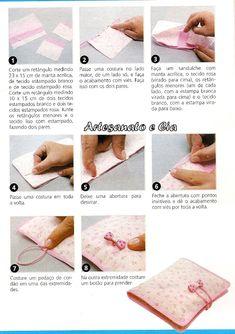 Fazendo Arte com a Clau: Porta-absorvente em tecido- passo a passo