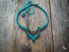 Macrame bohemian chic elven necklace Custom от creationsmariposa