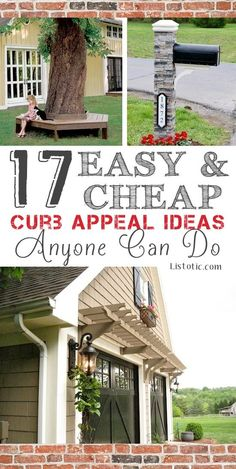 Easy and Cheap Curb Appeal Ideas Anyone Can Do (on a budget!) 17 Easy and Cheap Curb Appeal Ideas Anyone Can Do.love the garage door & pergola in this Easy and Cheap Curb Appeal Ideas Anyone Can Do.love the garage door & pergola in this pic