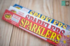Rebekah Hoyt Blog - Wedding Inspiration:Sparklers! (these cheap ones give off less smoke than the fancy ones)