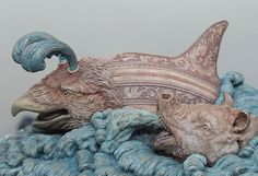 Sea monster sculpture based on those depicted in renaissance and medieval maps // Bailey Henderson