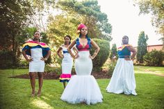 An Elegant Tswana & Pedi Wedding With Dresses by Rich Factory – pictures world Pedi Traditional Attire, Sepedi Traditional Dresses, African Traditional Wedding Dress, Traditional Wedding Attire, Traditional Weddings, African Bridesmaid Dresses, African Wedding Attire, African Attire, African Fashion Dresses