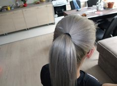 Koleston 0/11 and 0/81 diy #grayhair #ponytail #koleston #grey #hair