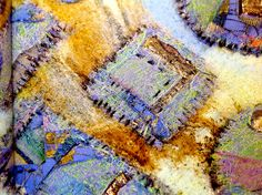 """""""New ideas in Fusing Fabric"""", written by Margaret Beal inspires you with creative cutting, bonding and mark making with the soldering iron, great textile art ideas! To source the book and the soldering iron contact burningissues@margaretbeal.co.uk Fabric Painting, Fabric Art, Fabric Design, Advanced Embroidery, Embroidery For Beginners, Embroidery Patterns Free, Machine Embroidery Designs, A Level Textiles, Textiles Techniques"""