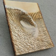 Wood Carving Designs, Wood Carving Art, Cool Wood Projects, Dremel Projects, Plywood Art, Wave Surf, Carved Wood Wall Art, Driftwood Crafts, Surf Art