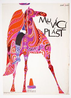 Movie Poster - Talking Caftan, poster art Rudolf Altrichter, 1969.
