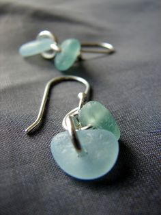 Cascade sea glass earrings | Sea Glass Jewelry, Necklaces, and ...
