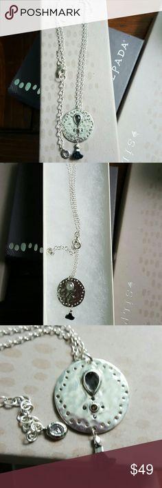 "SILPADA Sterling Silver, Swarovski Crystal ""TASSEL NIB Silpada Tassel Fringe Necklace silpada Jewelry Necklaces"