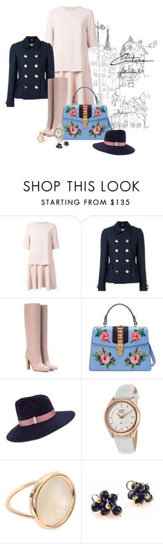 """When it comes..."" by flipars on Polyvore featuring STELLA McCARTNEY, Burberry, Valentino, Gucci, Gigi Burris Millinery, Rotary and Ginette NY"