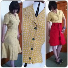 Thrift Store Re-Fashion ~ frock to blouse x