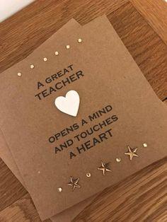 Thank You Teacher Card, Special Teacher, Teacher Card, End of Term Card, Gift Fo. Thank You Teache Happy Teachers Day Wishes, Teacher Thank You Cards, Your Teacher, Teacher Retirement, Retirement Cards, Teachers Day Drawing, Handmade Birthday Cards, Handmade Cards, Diy Birthday