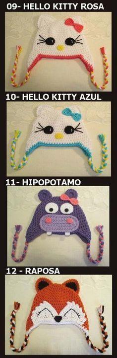 Exceptional Stitches Make a Crochet Hat Ideas. Extraordinary Stitches Make a Crochet Hat Ideas. Crochet Animal Hats, Crochet Beanie Hat, Crochet Baby Hats, Knit Or Crochet, Crochet Motif, Crochet Flowers, Crochet Stitches, Crochet Patterns, Baby Hat Patterns