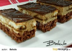 Ořechovo-kávové řezy - My site Slovak Recipes, Czech Recipes, Ethnic Recipes, Desert Recipes, Cake Cookies, Nutella, Sweet Recipes, Tiramisu, Cheesecake