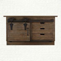 "Baumann 64"" Media Console In Natural | Arhaus Furniture"