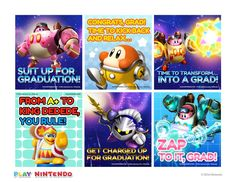Printable con-GRAD-ulations cards inspired by the Kirby: Planet Robobot game! Kirby Nintendo, Nintendo 3ds, Printable Cards, Free Printables, Innocent Child, Nintendo Characters, Great Videos, New Friends, Fun Activities