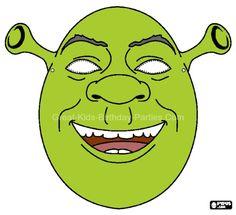 Free #Printable Halloween Masks - Shrek Mask