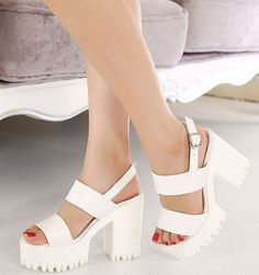 This is a high quality shoes. It will be packaged well and sent to you safe and fast.Materials: PUDetailed Measurements:Size measurements are in (cm)Heel height:10.5cmPlatform:5 cm♥♥ Please pay at..