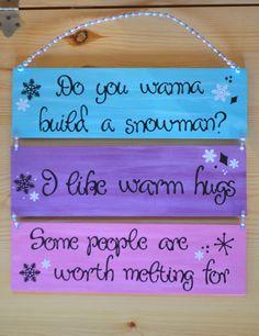 Frozen Decor  Birthday Decoration  Bedroom by CardsandCanvas, $25.00