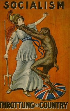 British Conservative Party poster 1909~ A poster warning people of the evils of Communism. These are scarier, and more beautiful, than pretty much any horror book/poster art you've seen.