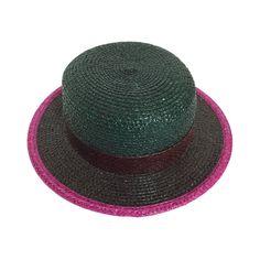 0308d4d1bf3 Fabulous Vintage Yves Saint Laurent Raffia Hat with Snakeskin Trim YSL