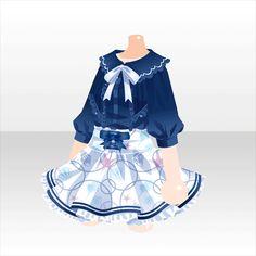 初夏のマリンミュージアム|@games -アットゲームズ- Manga Clothes, Drawing Clothes, Anime Outfits, Girl Outfits, Cute Outfits, Clothing Sketches, Anime Dress, Dress Drawing, Japanese Outfits