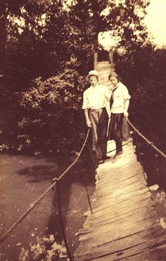 1900 plank bridge Jakes Creek Elkmont TN (My family lived along Jakes Creek)