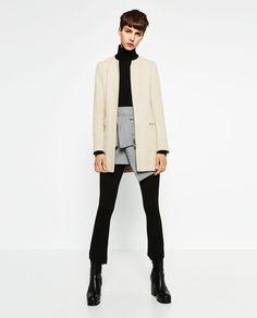 CREPE FROCK COAT-Coats-OUTERWEAR-WOMAN | ZARA United States