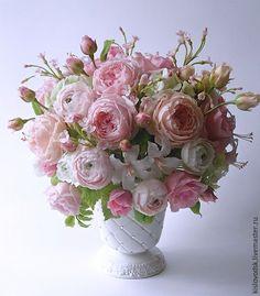 Купить Букет Семь оттенков нежности. - разноцветный, цветы ручной работы, украшение интерьера