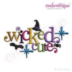 Wicked Cute - 9 Sizes! | Halloween | Machine Embroidery Designs | SWAKembroidery.com Embroitique