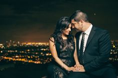 Engagement session idea. Fancy night time session! Especially overlooking the city!