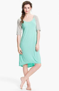 I know its grannyfied but I love sleep shirts! PS - this girls as transparent as I am, LOL.  Steve Madden 'Crazy Mad Comfort' Boyfriend Sleep Shirt | Nordstrom