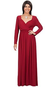 PLUS Women Long Sleeve Casual Maxi SLIMMING Long Dress Bodycon XL 2X 3X BROWN