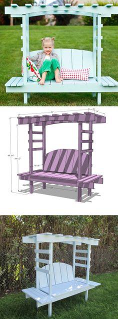 How to Make Kids Arbor Bench - DIY & Crafts