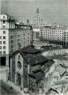 S.Giovanni in conca, accorciata, con il cantiere Diaz sullo sfondo
