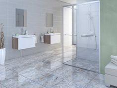 Prestige Grey Shiny Ceramic Floor Tile - 500 x Best Flooring, Grey Flooring, Flooring Options, Rubber Tiles, Grey Floor Tiles, Tile Panels, Outdoor Tiles, Modern Style Homes, Glass Bathroom