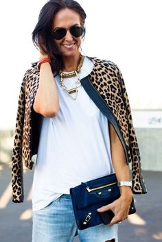 Tash from They All Hate Us - <3 the clutch, necklace, jacket, all of it!