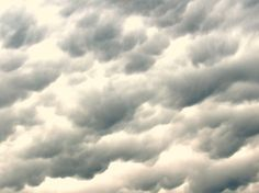 Very unusual formation of clouds before a storm.  Spring 2015