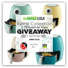 The GoWISE USA Retro Collection Air Fryer Giveaway