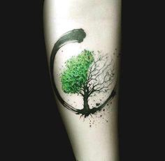 Small Tree forearm tattoo