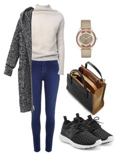 """Cardigan"" by ronniii33 ❤ liked on Polyvore featuring River Island, Marni, Rick Owens, NIKE and Marc by Marc Jacobs"