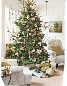 I am going to try this twiggy look with my new artificial tree.......
