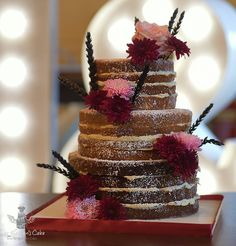 In the Nip! Naked wedding cakes are such a huge trend! And wet just love them! Heavens, Just Love, Wedding Cakes, Naked, Desserts, Food, Deserts, Sky, Wedding Cake