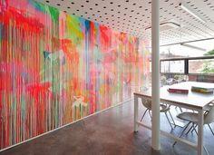 cool idea for walls or room divider, perhaps on plexiglas ? Light and Bright Creative Design Studio: