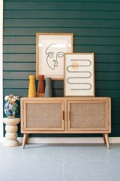 """WoodTV Cabinet With Woven Cane Doors Product Description Product Dimensions : 48"""" L x 16"""" W x 27"""" H Material:Wood SKU: CHH1299 Brand: Kalalou Furniture Makeover, Diy Furniture, Furniture Design, Rattan Furniture, Living Room Cane Furniture, Living Rooms, Living Room Tv Cabinet, Arranging Furniture, Furniture Stencil"""