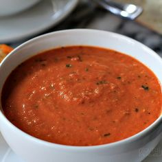 Pressure cooker creamy tomato basil soup. Very delicious vegetable soup cooked in pressure cooker.