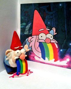"""Gravity Falls Gnome Puking Sculpture--Bellos ojos, mas bellos si ven bien. Controlate cada año. Lee en nuestro blogspot """"Descansar frente a la PC """" y otros-----"""