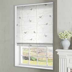 Dawn Chorus Ivory Roman Blind Curtains With Blinds, Window Curtains, Grey Roman Blinds, Bathroom Blinds, Selling Design, Other Rooms, Window Coverings, Soft Furnishings, New Homes