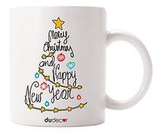 Tazza in ceramica Albero di Natale multicolor - 8x10x9 cm