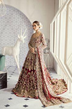 pakistanische Brautkleider - New Ideas - New Ideas Asian Bridal Dresses, Pakistani Formal Dresses, Pakistani Wedding Outfits, Indian Bridal Outfits, Pakistani Wedding Dresses, Pakistani Dress Design, Pakistani Clothing, Wedding Hijab, Tulle Wedding